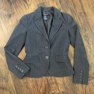 3/$25 Rampage Striped Gray Pink Blazer